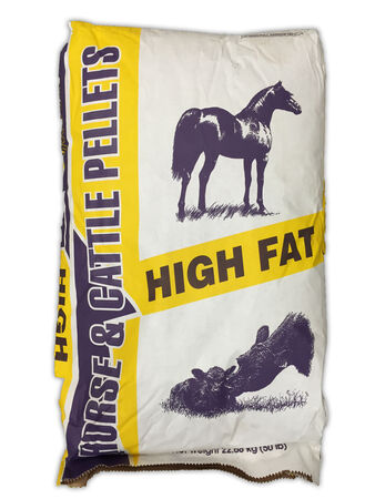 High fat horse & cattle pellets 50 lb