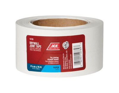 Ace Drywall Joint Tape Paper Self Adhesive 2-1/16 in. W x 75 ft. L