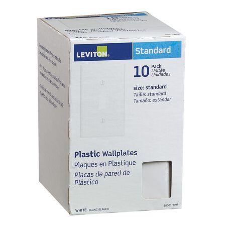 Leviton 1 gang White Plastic Toggle Wall Plate 10 pk