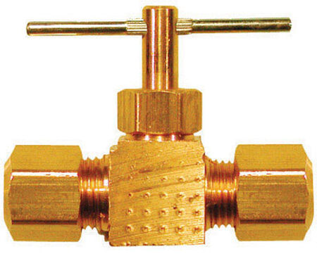 Ace 3/8 in. Dia. x 3/8 in. Dia. Brass Straight Needle Valve
