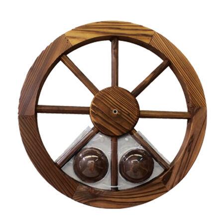 """Wagon Wheel 24"""" Charred Finish"""