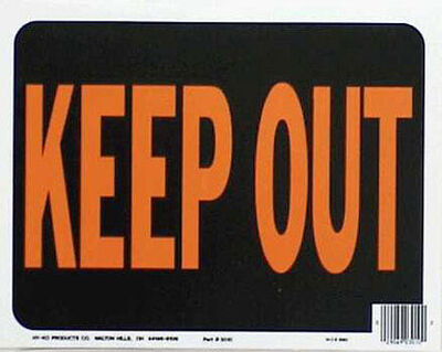 Hy-Ko English 9 in. H x 12 in. W Plastic Sign Keep Out