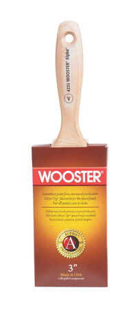 Wooster Alpha Professional 3 in. W Flat Synthetic Blend Paint Brush