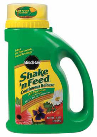 Miracle-Gro Shake 'N Feed Plant Food For Indoor and Outdoor Plants 4.5 lb.