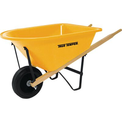 True Temper Poly Single Wheel Kids Wheelbarrow 2 cu. ft.