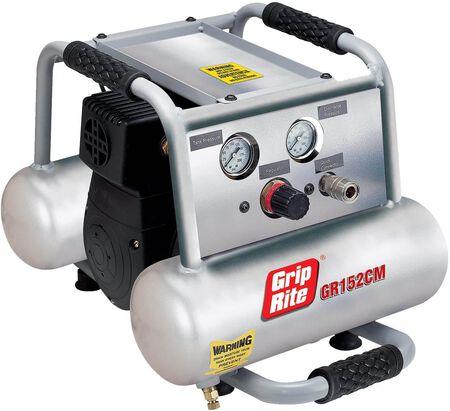 Grip-Rite GR152CM 1.5HP 2 Gallon Twin Tank Compressor
