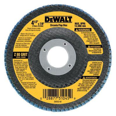 "4-1/2"" x 7/8"" 80 Grit Zirconia T29 Flap Disc"