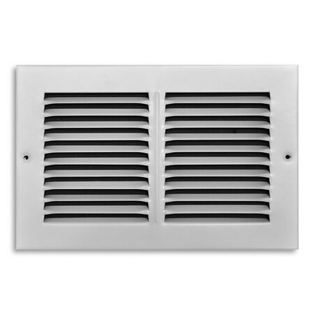Tru Aire 6 in. H x 10 in. W White Return Air Grille Steel