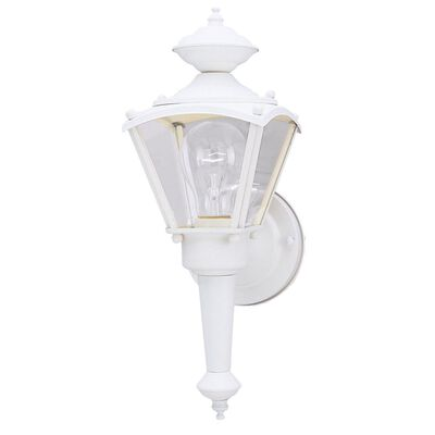 Westinghouse 1 lights Textured White Incandescent 1 Outdoor Wall Lantern Fixture