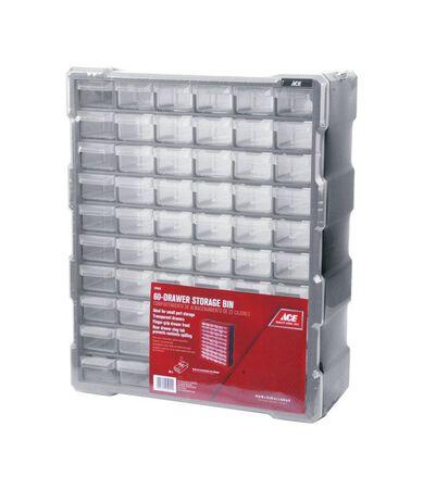 Ace Storage Organizer 19 in. H x 15 in. W x 6-1/4 in. L Gray