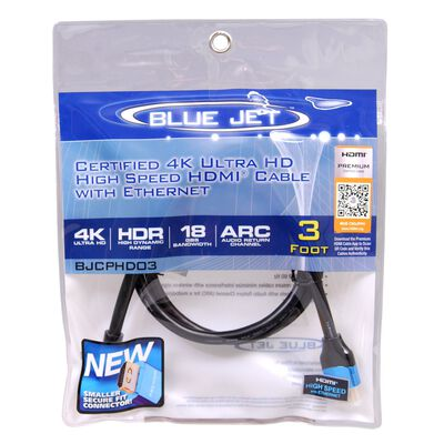 Blue Jet 3 ft. L High Speed HDMI Cable with Ethernet