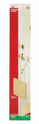Ace 34 in. L x 6 in. W Brass Door Kickplate 1 pk