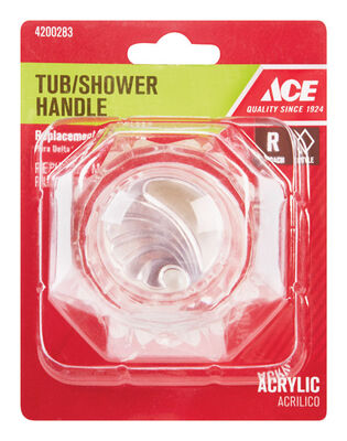Ace Broach Acrylic Tub and Shower Handle