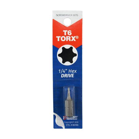 Best Way Tools Tri-Wing T6 Torx Screwdriver Bit 1/4 in. Dia. x 1 in. L 1 pc.