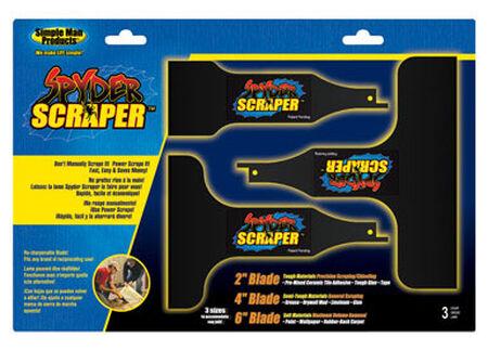 Spyder 2 4 & 6 in. L Carbon Steel Scraper 3 pk