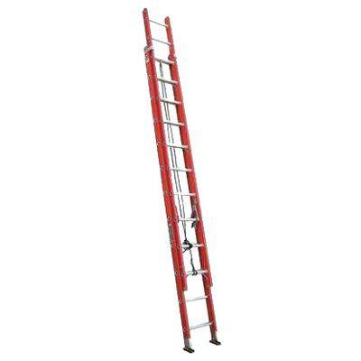 24 ft Louisville FE3224 Fiberglass Extension Ladder, Type IA, 300 lb Load Capacity