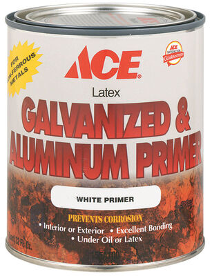 Ace Latex Interior and Exterior Galvanized & Aluminum Primer 1 qt. White