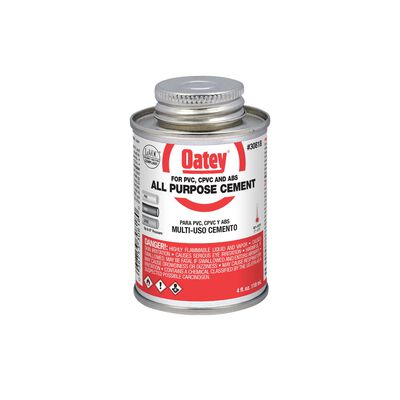 Oatey Clear PVC/CPVC All-Purpose Cement 4 oz.