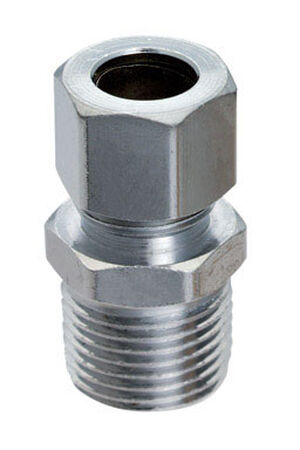 Ace 3/8 in. MPT x 3/8 in. Dia. Compression Brass Straight Connector