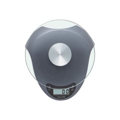 Taylor Silver Digital Food Scale 6.6 Weight Capacity
