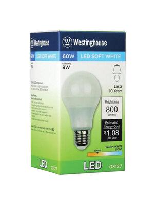 Westinghouse Omni Directional LED Bulb 9 watts 800 lumens 3000 K A-Line A19 Medium Base (E26)