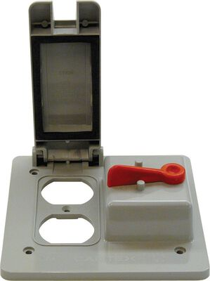 Cantex Rectangle PVC 2 gang Outlet/Switch Box For Use with 2 Gang PVC Type FS Device Boxes Gray