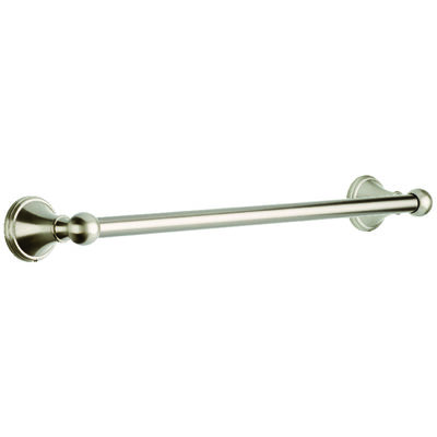 Franklin Brass Crestfield Satin Nickel Towel Bar 18 in. L Zinc