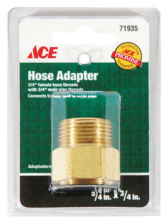 Ace 3/4 in. FHT x 3/4 in. MPT Brass Hose Coupling Female/Male Threaded