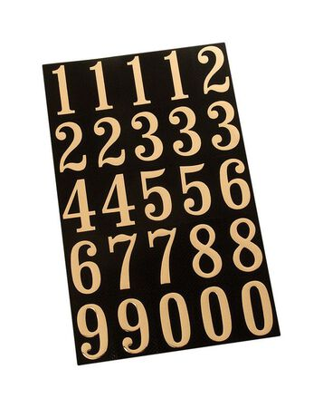 Hy-Ko Self-Adhesive Gold Reflective Polyester Number Set 0-9 2 in.