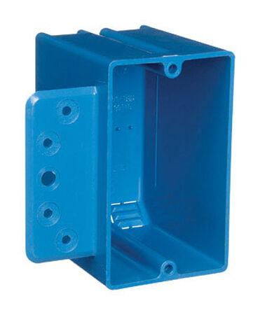 Carlon 3-3/4 in. H Rectangle 1 Gang Switch Box Blue PVC