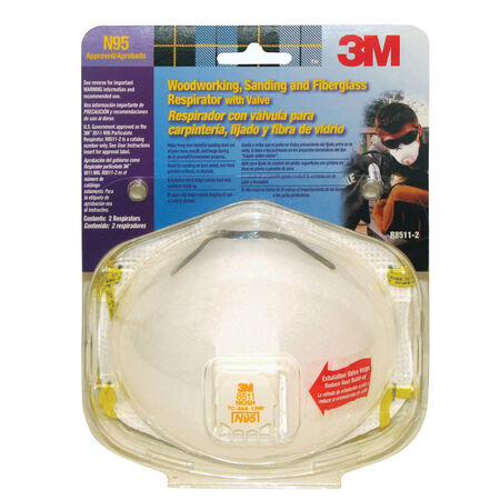 3M Woodworking Sanding and Fiberglass Respirator 2 pk