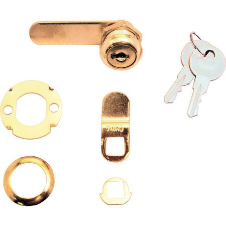 Prime-Line Brass Drawer and Cabinet Lock Brass