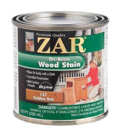 ZAR Semi-Transparent Oil-Based Wood Stain Golden Oak Tintable 1/2 pt.