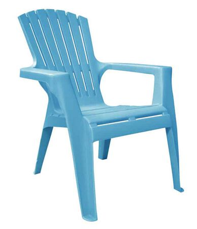 Adams Kids 1 Pool Blue Polypropylene Adirondack Chair Blue