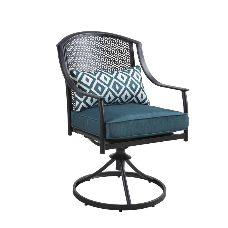 Living Accents Cortland 5 pc. Black Steel Patio Set ... on Living Accents Patio id=45140