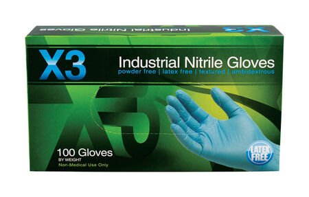 Xtreme X3 Nitrile Industrial Gloves Extra Large 100 pk Blue