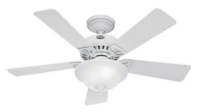 Hunter Caraway Ceiling Fan 44 in. W Snow White