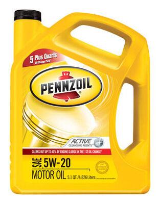 Pennzoil SAE 5W20 Motor Oil 5.1 qt.