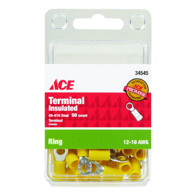 Ace Industrial Ring Terminal 50 Vinyl Yellow