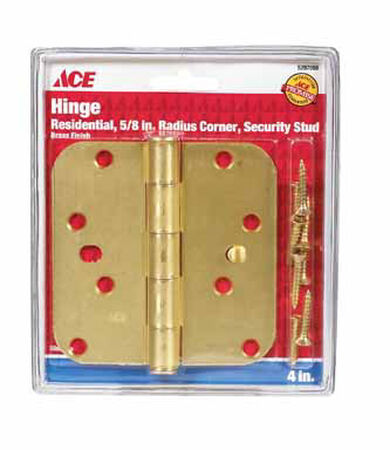 Ace Steel Residential Hinge 4 in. L Satin Brass 1 pk