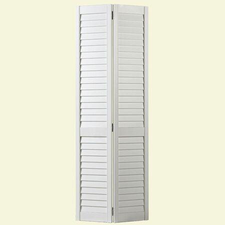Full Louver Interior Closet Bi-fold Door - 30 in x 80 in