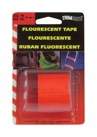 Trim Brite 1-1/2 in. W x 8 in. L Fluorescent Red Reflective Tape 1 pk