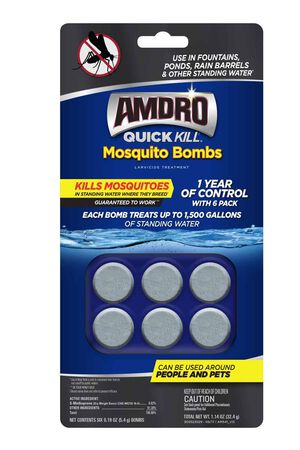 Amdro QK Mosquito  Bombs Larvicide 6pk