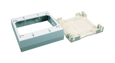 Wiremold 2-1/8 in. H Square 2 Gang Outlet Box Ivory Plastic