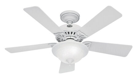 Hunter Caraway Ceiling Fan 44 in. W Snow White