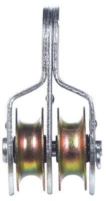 Campbell Chain Double Sheave Rigid Eye Pulley 1-1/2 in. Rigid 400 lb. Steel