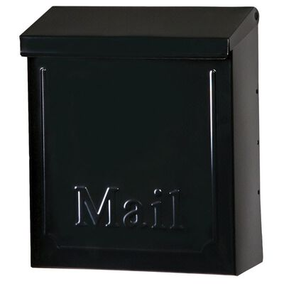 Gibraltar Vertical Galvanized Steel Wall-Mounted Black Lockable Mailbox 10-1/2 in. H x 4 in. W