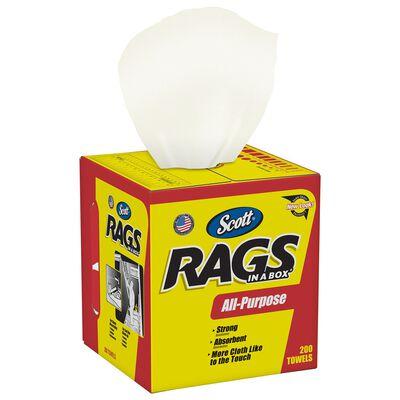 Scott Rags in a Box Paper Cleaning Cloth 10 in. W x 12 in. L 200 sheet