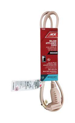 Ace 14/3 SPT - 3 Appliance Cord 3 ft. L Beige