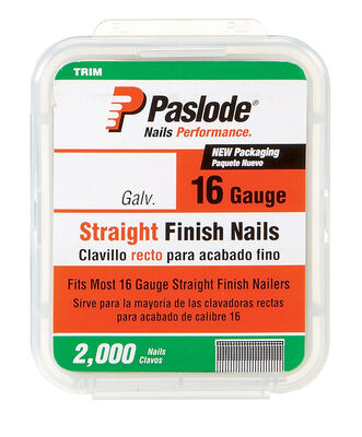 Paslode 2-1/2 in. L 16 Ga. Galvanized Straight Finish Nails 2 000 pk